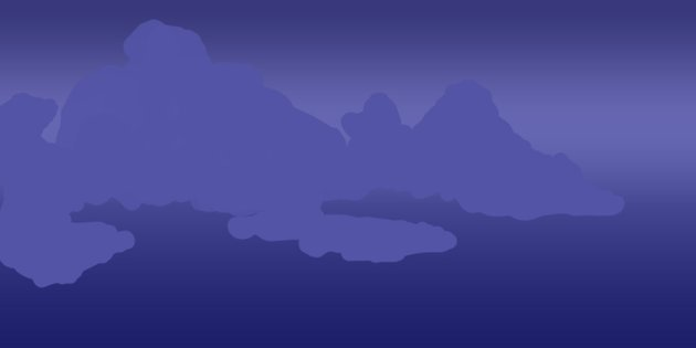 Create the flat cloud shapes