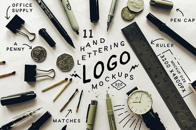 Hand Lettering Logo Mockups