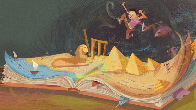 The One Who Reads by Aly Elziny
