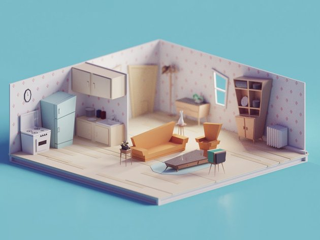 Vintage Living Room by Mohamed Chahin