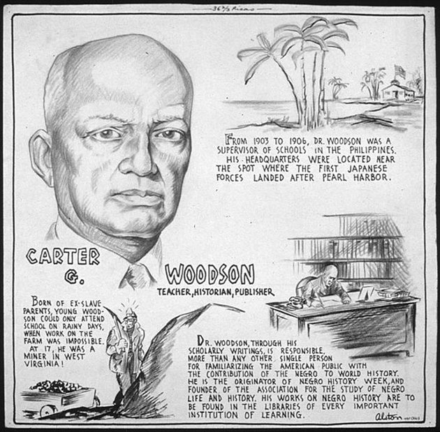 Carter Woodson by Charles Alston