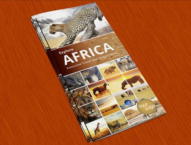 Explore Africa Trifold Brochure