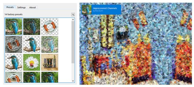 Add the Impressionist Channels filter