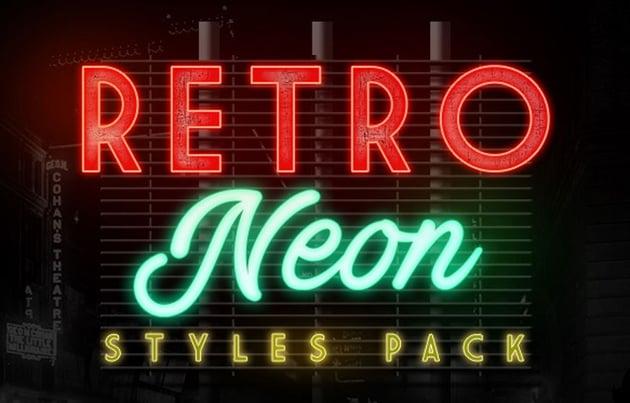 Retro Neon Styles Pack
