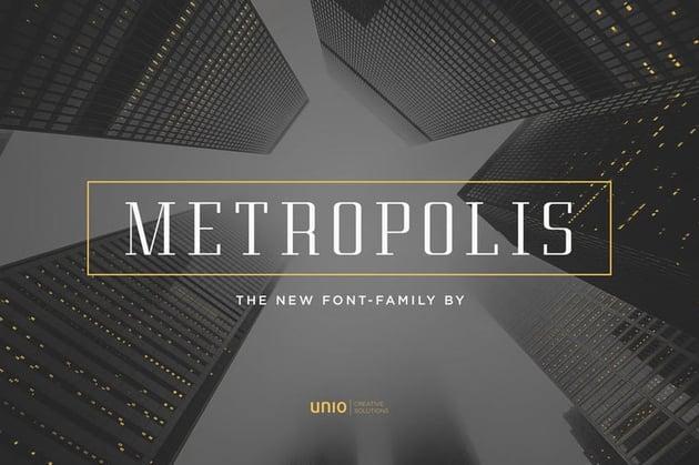 Metropolis Font-Family