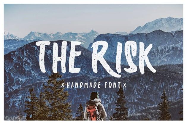 The Risk - Handmade font
