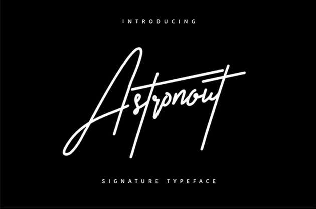 Astronout Signature Typeface