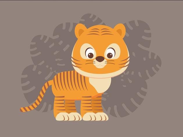 Create a Cute Cartoon Tiger Illustration in Adobe Illustrator
