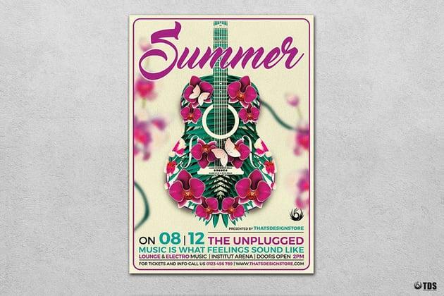 Summer Unplugged Flyer