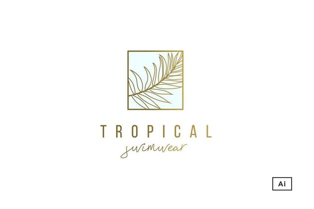 Tropical Palm Logo Template