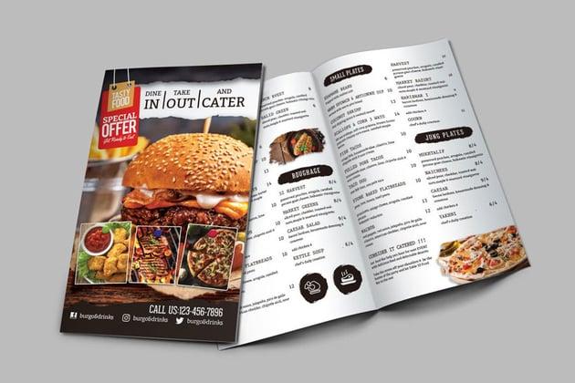 Bi-Fold Food Menu Template