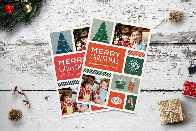 Photo Collage Christmas Photo Card