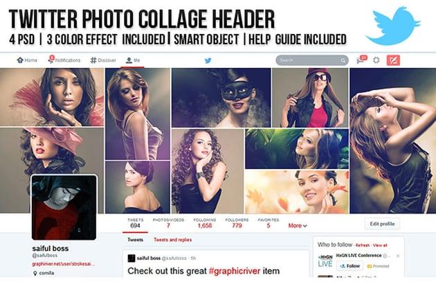 Twitter Photo Collage Header