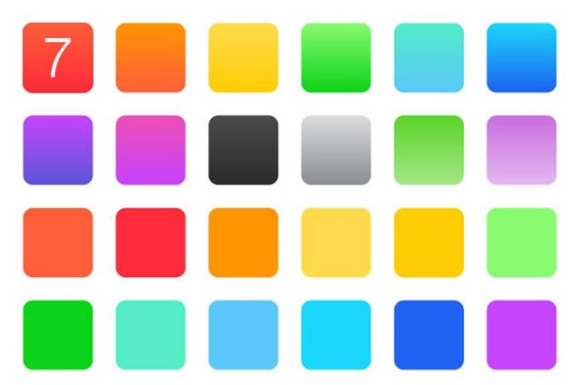 Flat Color Swatches Gradients