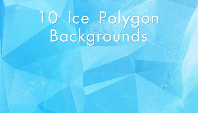 Ice Polygon Backgrounds