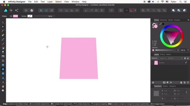 Create the shopping bag shape