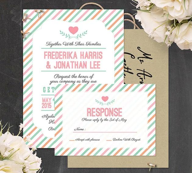 Stripes Wedding Invitation