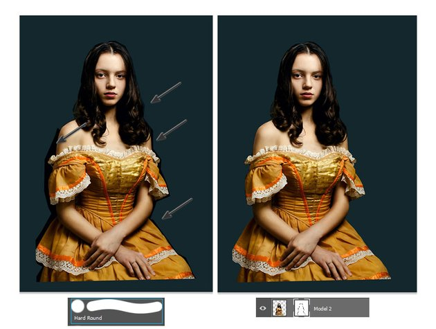Mask the models edges