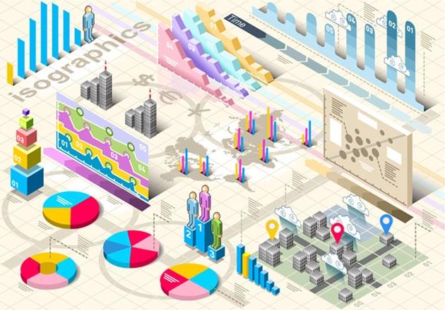 Isometric Infographic Set