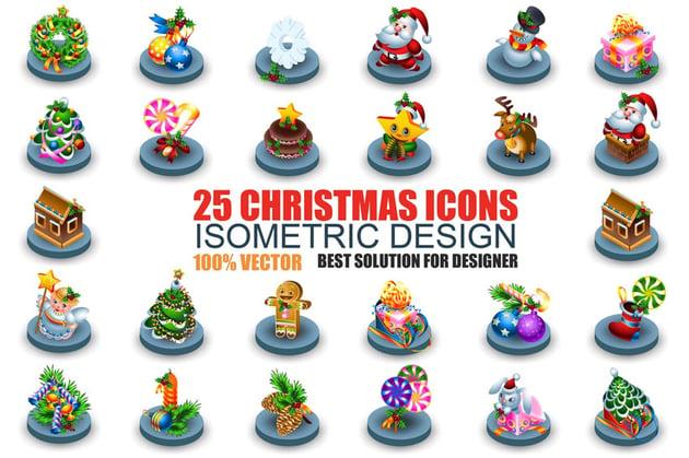 Christmas Isometric Icons