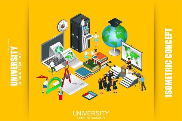 University Isometric Concept