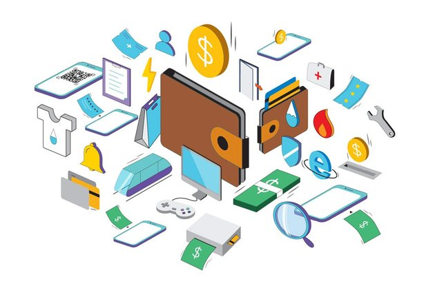 Isometric Wallet Icons