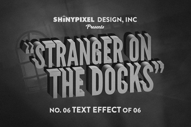 Old Movie Title Text Effects