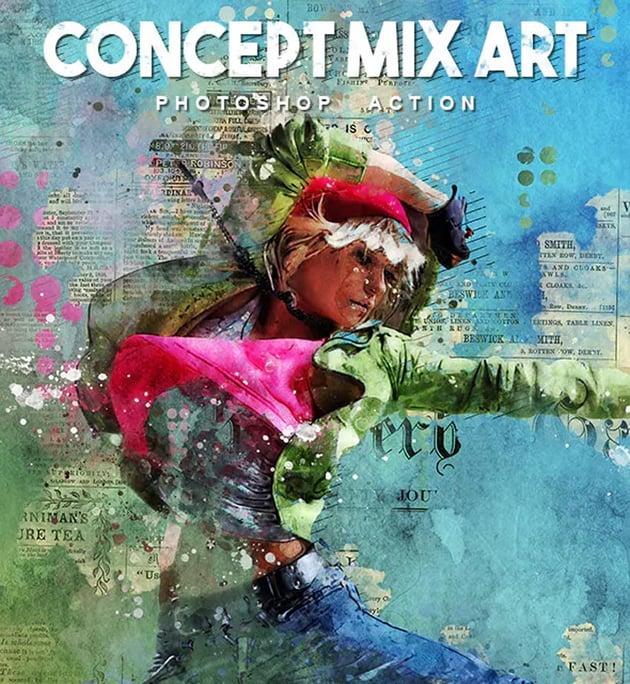 Concept Mix Art Photoshop Action