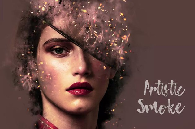 Artistic Smoke Portrait Photo Effect Templates