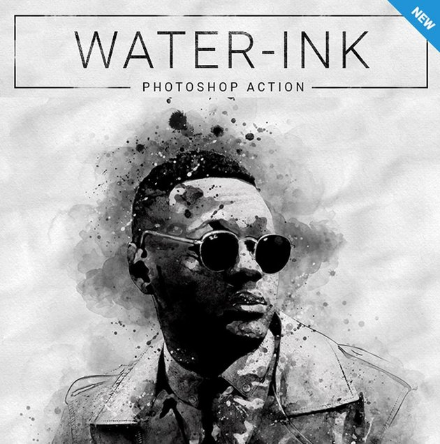 Water-Ink Photoshop Action