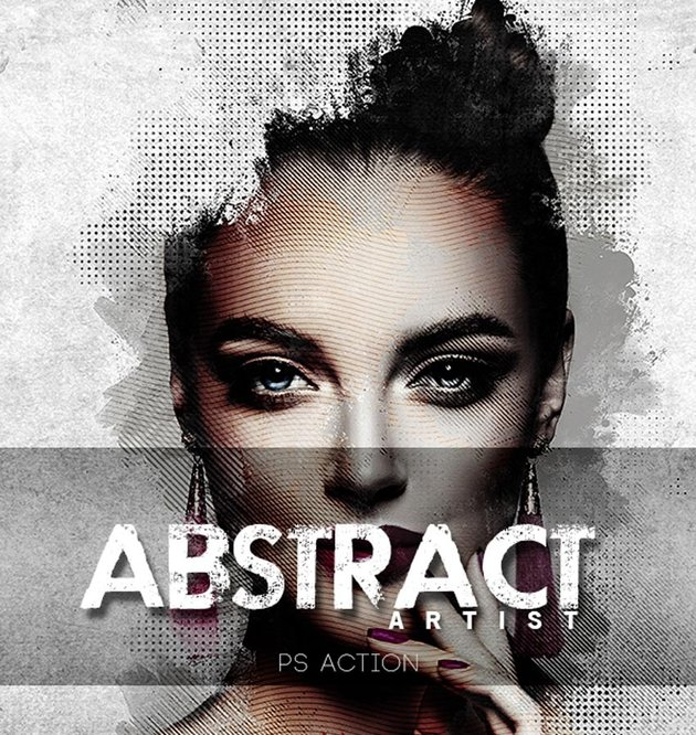 Abstract Artist Photoshop Action