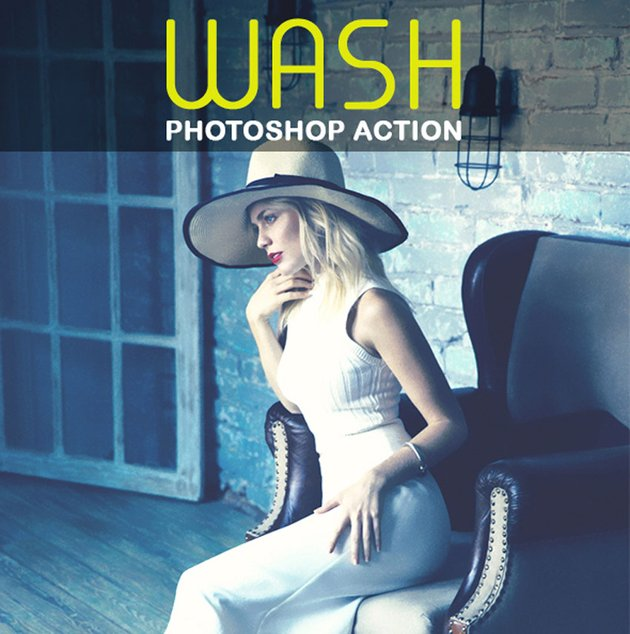 Wash Vintage Photo Effect Photoshop Action