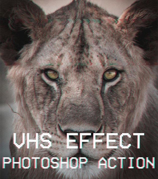 VHS Effect Photoshop Action for Retro Pics