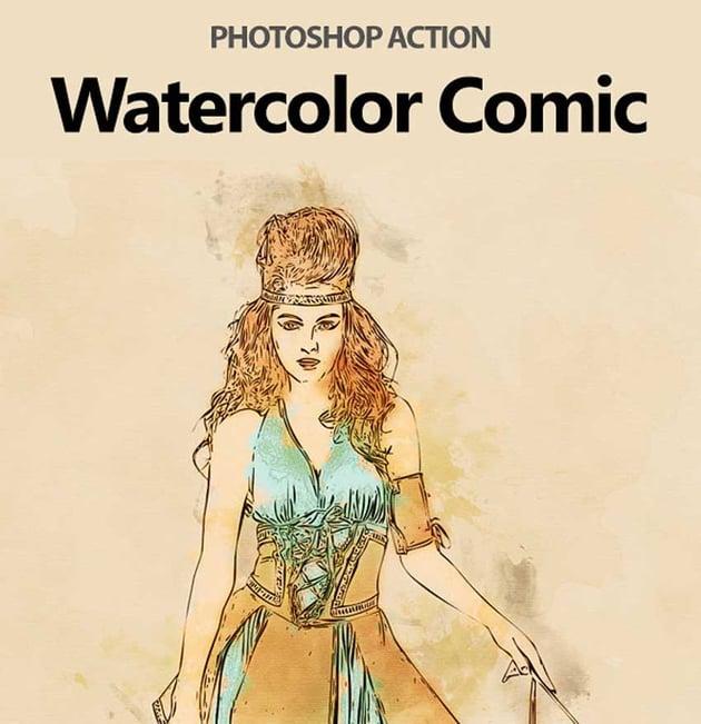 Watercolor Comic Photoshop Action