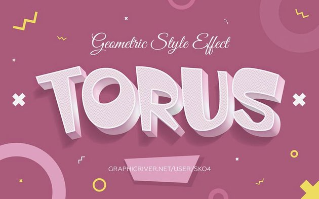 10 Geometric Style Text Effects
