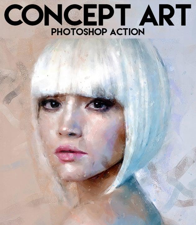 Concept Art Photoshop Action