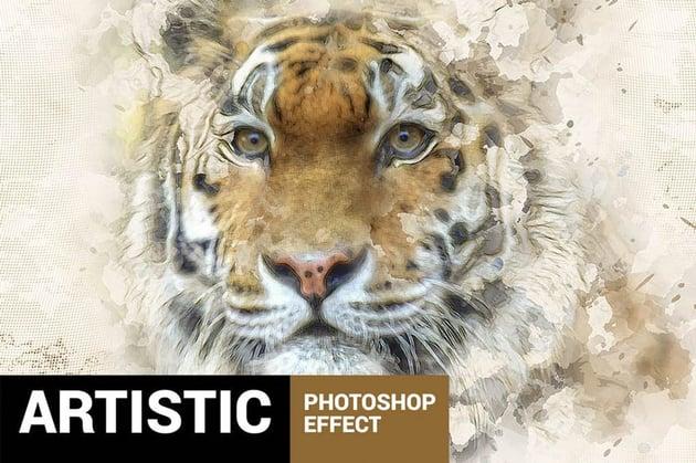 Paintum Photoshop Action