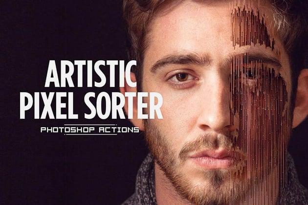 Artistic Pixel Sorter Photoshop Actions