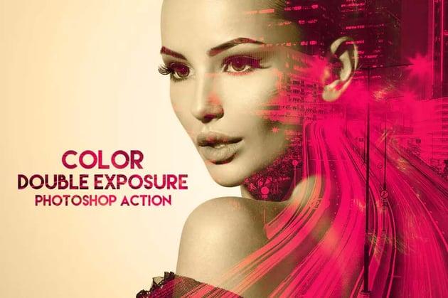Color Double Exposure Photoshop Action