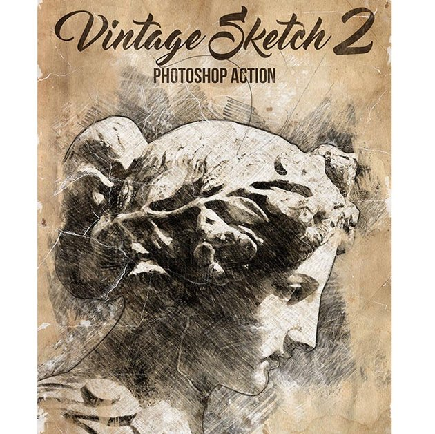 Vintage Sketch 2 Photoshop-Aktion