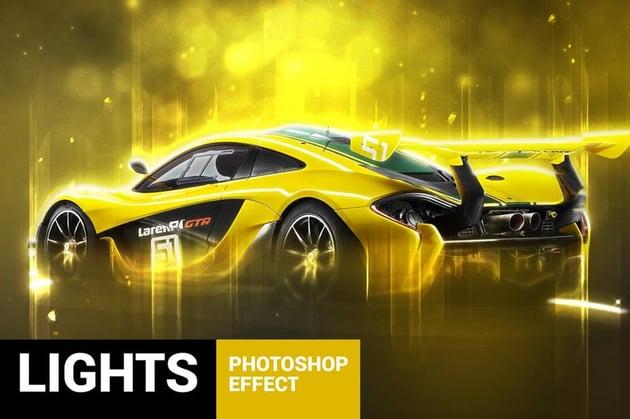 Lightum - Light Effects Photoshop Action