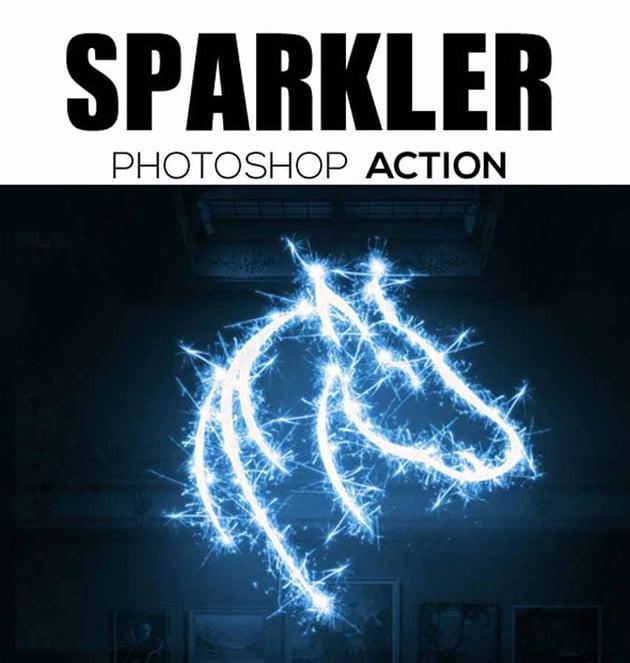 Sparkler Photoshop Action