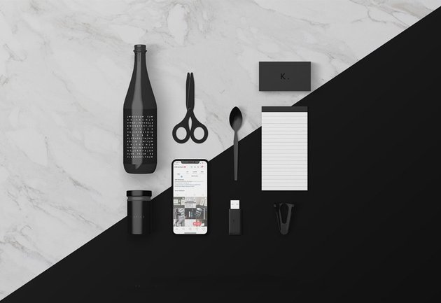 Various Desk Objects Mockup