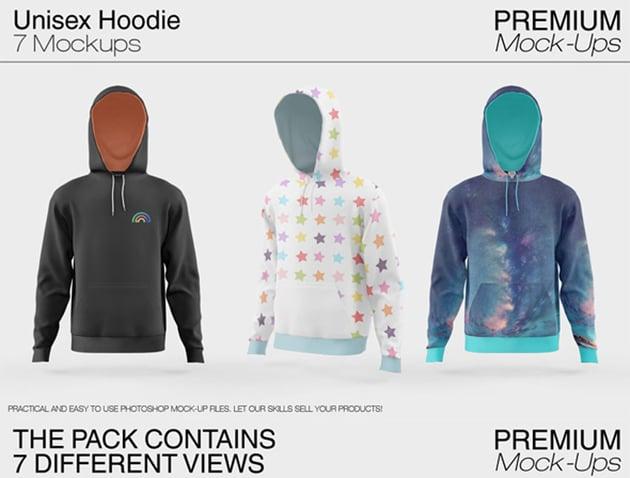Unisex Hoodie Mockup Set