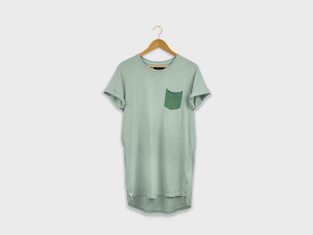 Longline T-Shirt on Hanger Mockup