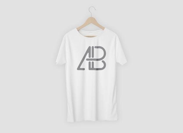 Single T-Shirt on Hanger Mockup