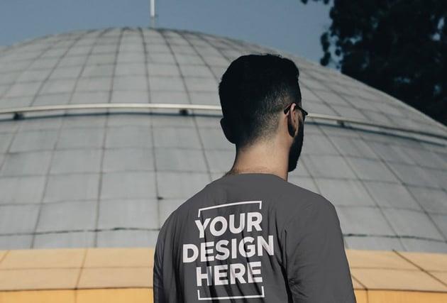 Male T-Shirt Back Mockup