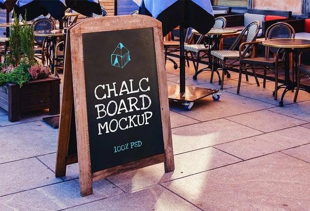 Chalk Board Mockup