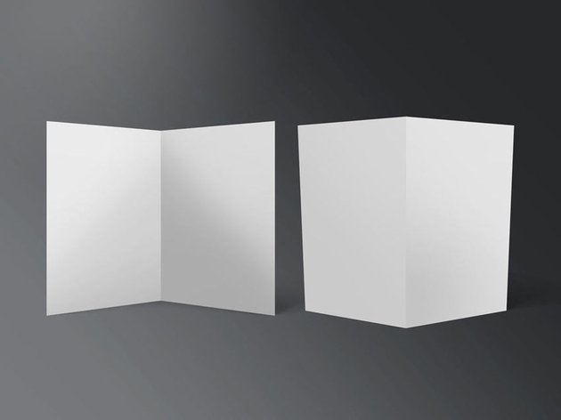 Half-fold Flyer Mockups