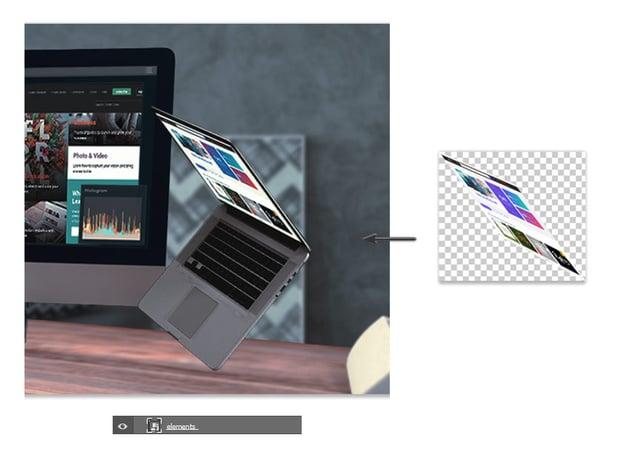 Add the laptop smart object